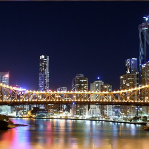 Brisbane Storey Bridge Night Lights