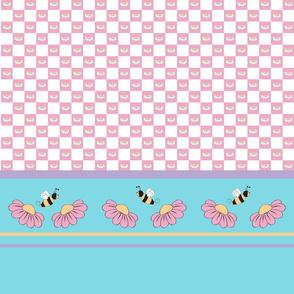 Checkered flower border