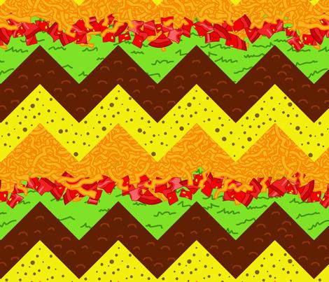 taco chevron fabric by b0rwear on Spoonflower - custom fabric