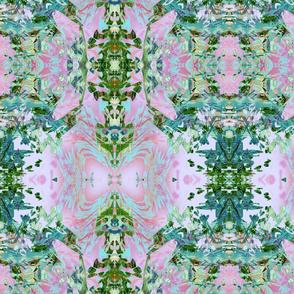 Mock Floral Butterfly Totem Pattern
