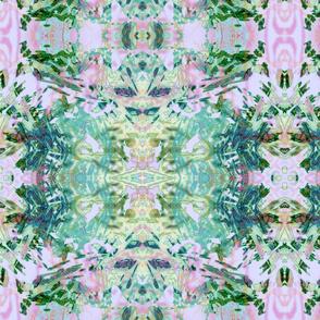 Mock Floral Ikat Ogees Pattern