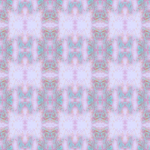 Mock Floral Tribal Plaid Pattern