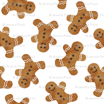 """(3/4"""" scale) gingerbread man cookie toss - white C18BS"""
