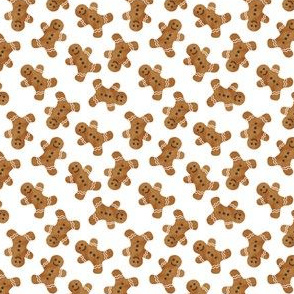 "(3/4"" scale) gingerbread man cookie toss - white C18BS"