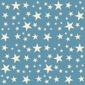 Vintage Flag - Stars White on Blue