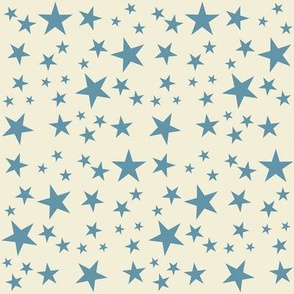 Vintage Flag - Stars Blue on White