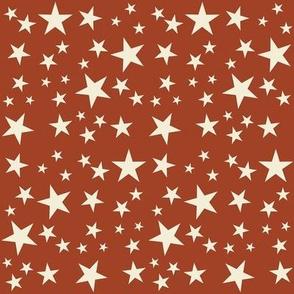 Vintage Flag -  Stars White on Red