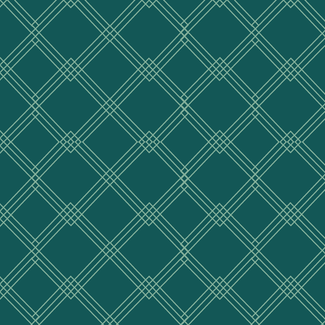 Diamond green on green fabric by karwilbedesigns on Spoonflower - custom fabric