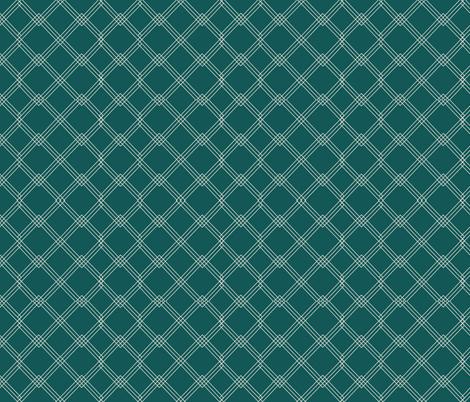 Diamond grey on green fabric by karwilbedesigns on Spoonflower - custom fabric