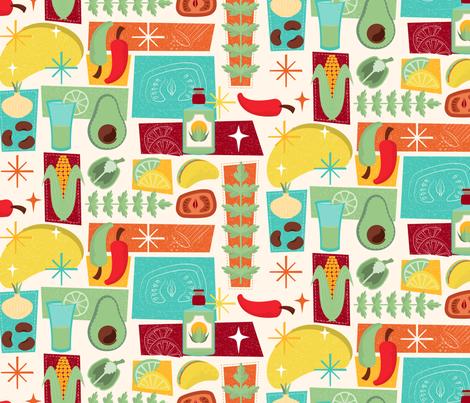 Taco fiesta fabric by roofdog_designs on Spoonflower - custom fabric