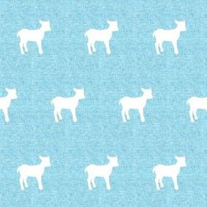 Linen lamb Blue