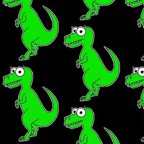 Cute T-Rex - on black