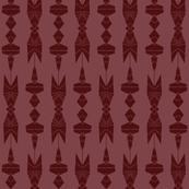 Victorian Chandelier in Maroon