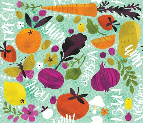 Keepin' It Fresh! fabric by cynthiafrenette on Spoonflower - custom fabric