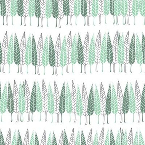 Leaves Forest-Nature Spirit Seamless Repeat Pattern
