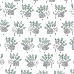 Leaves Bouquet-Nature Spirit Seamless Repeat Pattern