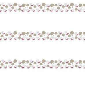 Beetles and Leaves Border swatch-Nature Spirit Seamless Repeat Pattern