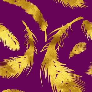 Gold & purple flocks