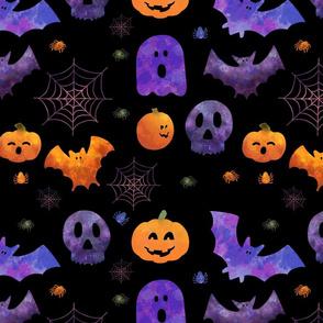 Spooky Orange and Purple Halloween