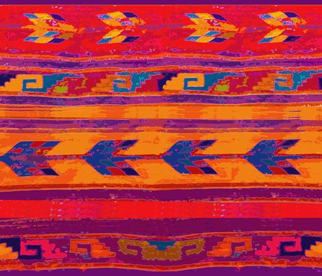 Southwest Scarf fabric by vagabond_folk_art on Spoonflower - custom fabric