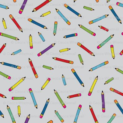 Pencil scatter - grey - Small by Cecca Designs