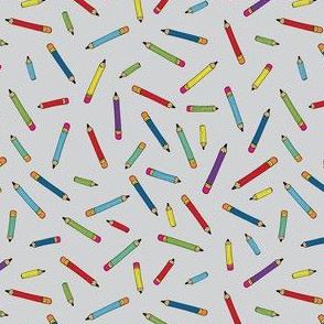 Pencil scatter - grey - Small by Cecca Designs