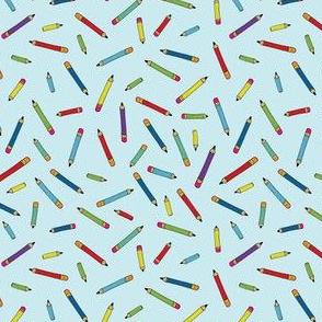 Pencil scatter - sky blue - Small by Cecca Designs