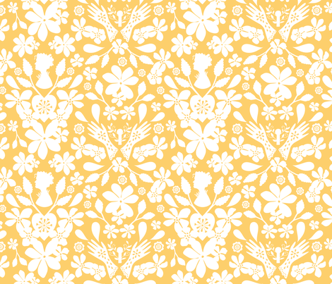 Amy's-Treasure-yellow (small) fabric by cassandra_riley on Spoonflower - custom fabric