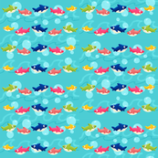 Baby Shark   Shark Family Pattern Print
