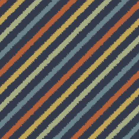 Furry Diagonal Bayeux Stripes 3 fabric by eclectic_house on Spoonflower - custom fabric