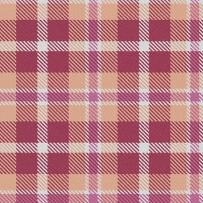 Pink Peach and Cherry Plaid