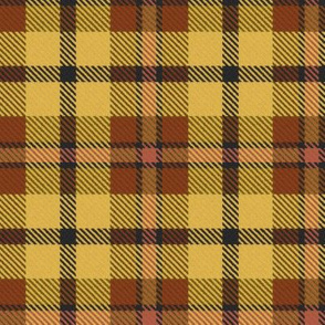 Brown and Yellow Autumnal Plaid