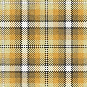Golden Yellow Orange Pale Yellow with White and a dash of Black Plaid