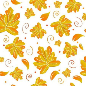 Falling Leaves White