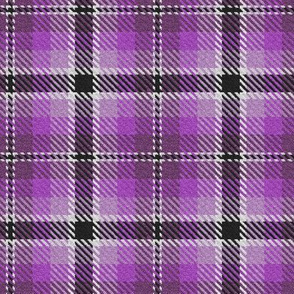 Purple Violet Lavender with Black and a dash of White Plaid