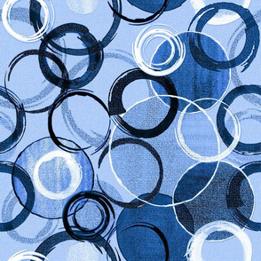 Hand Painted Circles BLUE