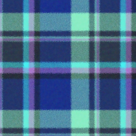 Furry Look Asymmetric Royal and Lavender Plaid fabric by eclectic_house on Spoonflower - custom fabric