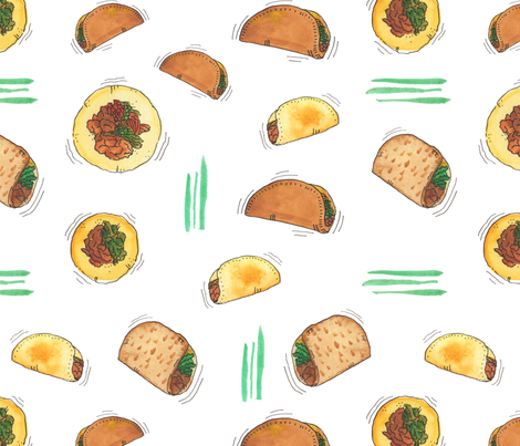 Taco Party! fabric by nicoletlaursen on Spoonflower - custom fabric