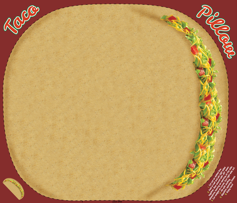 Taco Pillow fabric by vintage_style on Spoonflower - custom fabric