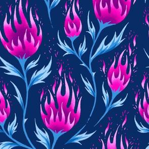 Fire Flower - Dark Pink