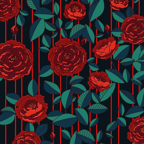 bloody red flowers