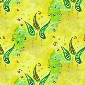 Leafy Abstract Watercolor