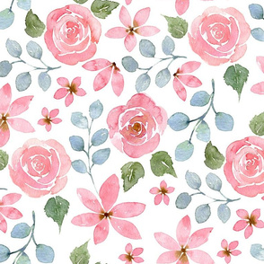 Watercolour Floral Pattern No. 4