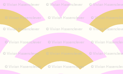 art deco scales - light pink