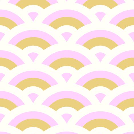 art deco scales - light pink fabric by vivdesign on Spoonflower - custom fabric