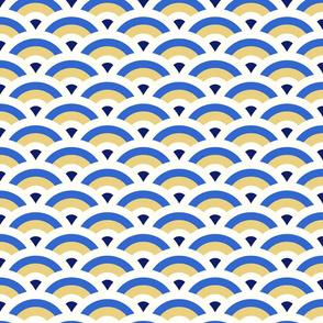 art deco scales - blue