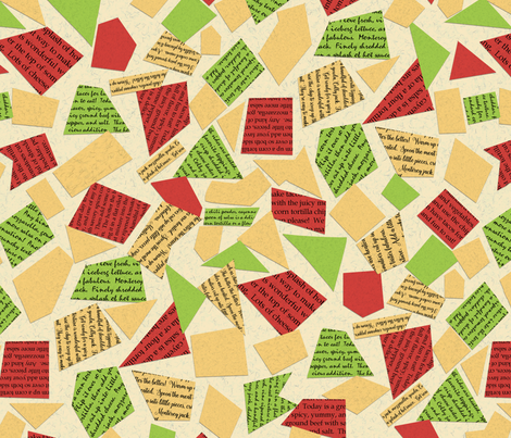 Talking about Tacos pattern fabric by mgdoodlestudio on Spoonflower - custom fabric