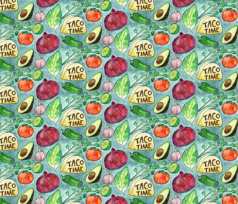 Taco Time fabric by nicebutton on Spoonflower - custom fabric