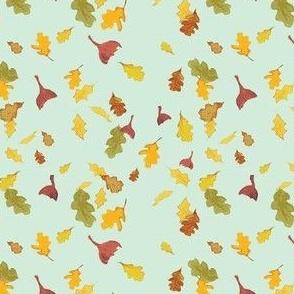 Falling Leaves in blue
