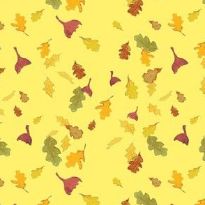 Falling Leaves in Yellow
